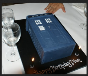 I don't know who Dion is, but I totally want this TARDIS birthday cake!