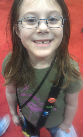 My little geekling! She had such a good time!