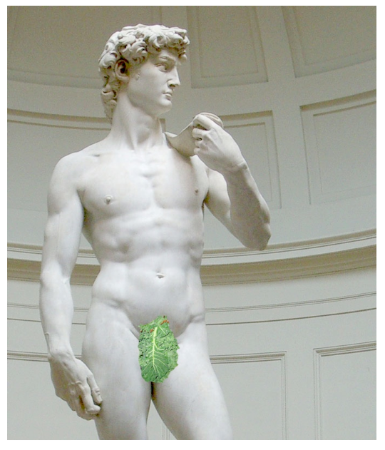 Who needs a fig leaf when you've got kale? (Christina gave me this picture...isn't is awesome?)