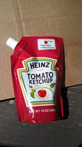 Yes, yes...that is SQUEEZE ketchup in a bag! And the best part...it was $1!