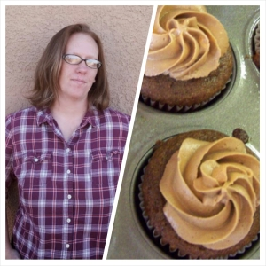 I can see the similarity... *shakes head no* (BTW, Danielle actually made these cupcakes...Peanut Butter Cupcakes w/Chocolate Buttercream!)