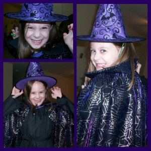 Five Years Old - The Witch (had to do a collage...the faces!!!)