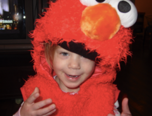 Two Years Old - Elmo (I think almost all kids worse this thing...right?)
