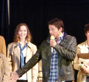 Surprise guest judge...Castiel himself! (Misha Collins)